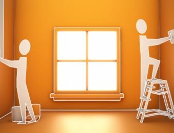 Abra y pinte su casa